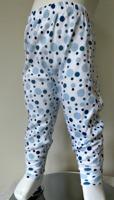 Byxor med muddar - Blå bubblor 60-90cl