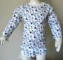 Klädpaket - Byxor, Bodys Kort+Långärm Blå bubblor - Stl. 90 Byxor- kort/lång body Blå