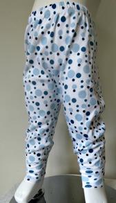 Byxor med muddar - Blå bubblor 60-90cl - Stl.60 Blöjbyxa Blå bubblor