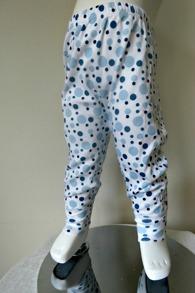 Byxor med muddar 3-pack Blå bubblor/Ljusblå/Vit - Stl. 70 Blå bubblor/ljusblå/Vit