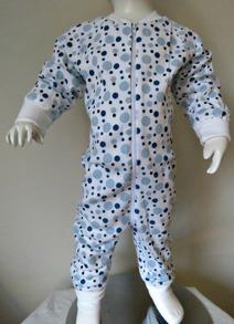 Pyjamas Zipper - Blå bubblor 60cl - Stl.60 Zipper Blå bubblor