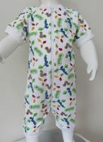Pyjamas Zipper kort - Larver