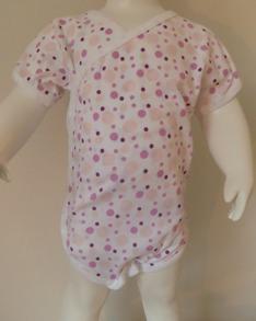 Klädpaket - Byxor, Body Omlott  - Rosa bubblor - Stl.50 Byxor- Omlott/Vit Rosa bubblor