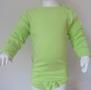 Bodyx2 - Omlott kortärmad /Gröna bubblor + Långärmad Lime - Stl.80 Omlottbody+ lång Lime