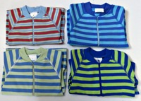 Babypyjamas Zipper - Randiga Blå 50cl
