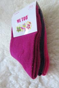 Me Too - Barnstrumpor - 3 pack storlek 20-22 - 20-22 Rosa/lila