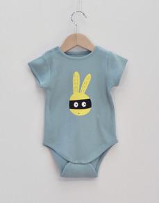 Body baby - Maskerad kanin ljusblå 86cl - Body kanin 24mån (86cl)