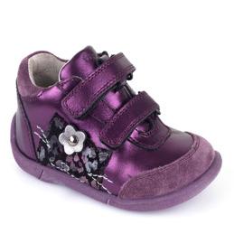 Lära gå sko lila skinnskor
