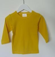 Långärmad tröja - Solgul- 74cl