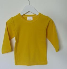 Långärmad tröja - Solgul- 74cl - Stl. 70 Långärmad tröja solgul