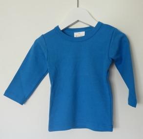 Långärmad tröja - Petrol 70cl - Stl. 70 Långärmad tröja klarblå