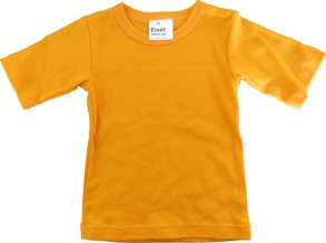 Barn T-shirt Orange kortärmad 70cl - T-shirt Orange stl.70 kort