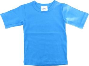 Barn T-shirt Petrol - 70-80cl - T-shirt Klarblå stl.70