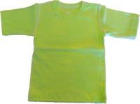T-shirt Kortärmad Sportig 70-110cl- Lime