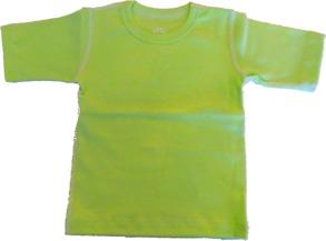 T-shirt Kortärmad Sportig 70-110cl- Lime - T-shirt Lime stl.70