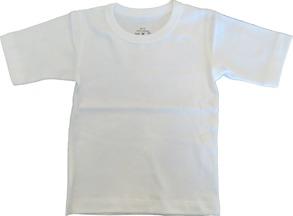 T-shirt Kortärmad Sportig 70-110cl - Vit - T-shirt Vit stl.70