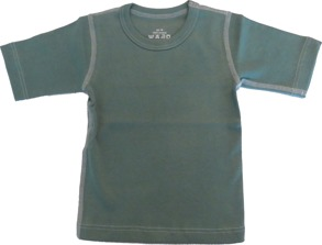 T-shirt Kortärmad Sportig - Militärgrön 70-110cl - T-shirt Militärgrön stl.70