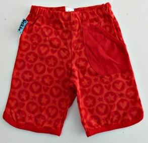 Shorts Röda Hjärtan/Stjärnor - Gekko 92cl - Shorts röda 92cl