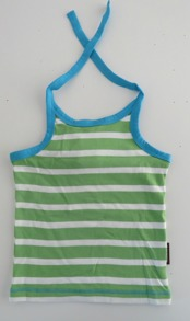 Halter Neck - Stripes Green - Maxomorra 86/92cl - Halterneck grön 86/92cl