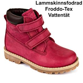 Froddo Ina Vinterkänga Mörkrosa - G3110073-3K (Stl. 25-30) - Stl. 25 mått 16,0cm