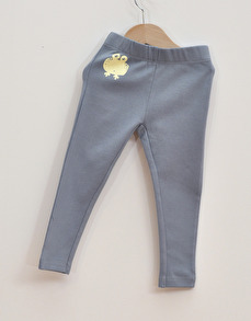 Leggings barn- Ljusblå 74cl - Leggings ljusblå - 12mån (74cl)
