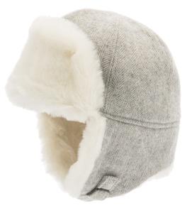 Barnmössa vinter Alaska vit