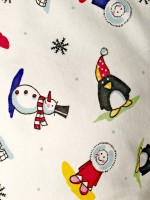 Pyjamas 2-delad - Julmotiv Snögubbar 150cl-Vuxen