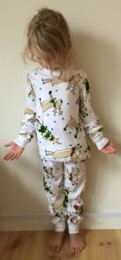 Pyjamas 2-delad - Julmotiv Snögubbar 150cl-Vuxen - Stl. 150 Pyjamas snögubbar