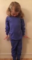Pyjamas 2-delad - Blå 110-160cl