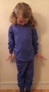 Pyjamas 2-delad - Blå 110-150cl - Stl. 130 Barnpyjamas Blå