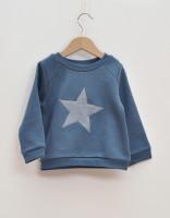 Sweatshirt tröja blå med stjärna 5-6år