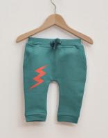 Sweatshirt byxor emerald  - GOTS bomull 81cl