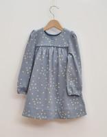 Klänning baby/barn ljusblå långärmad
