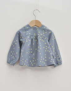 Baby blus - GOTS bomull 81cl - Baby blus- 18mån (81cl)