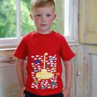Barn T-shirt kortärmad - Ubåt 5-6år