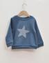 Sweatshirt tröja blå med stjärna 5-6år - 6 år (114cl)