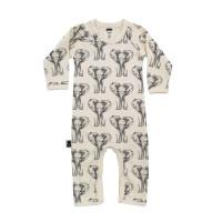 Babypyjamas/lekdräkt - Elefanter 12-18mån