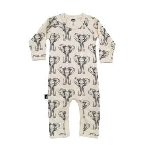 Babypyjamas/lekdräkt - Elefanter 12-18mån - Babypyjamas elefanter 12-18mån