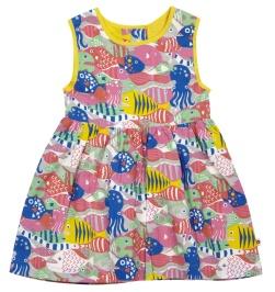 barn klänning mönstrad