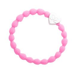 byEloise silver heart neon pink