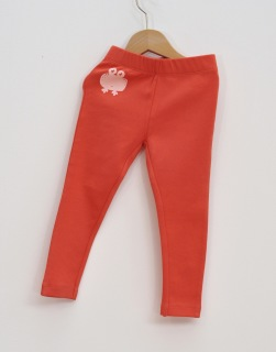 Leggings barn paprika