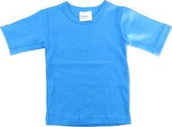 T-shirt barn enfärgad klarblå
