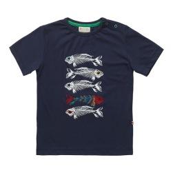 Barn t-shirt med tryck fiskben