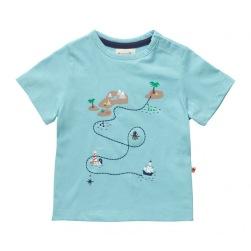Barn t-shirt med tryck skattkarta