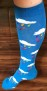 Strumpor för dam/herr - Blå med regnmoln- Storlek 39-41 - Knästrumpor Droppar 39-41