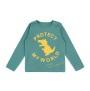 Barn t-shirt - Protect my world - Havsgrön 1-6år - Barntröja havsgrön 5år (108cl)