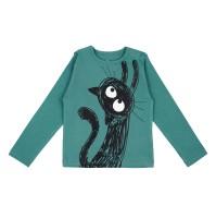 Barn t-shirt långärmad - Don´t go - Havsgrön