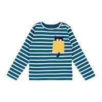 Barn t-shirt långärmad - Randig 86cl