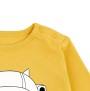 Barn t-shirt långärmad - Ground control gul 9-12mån
