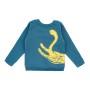 Barntröja sweatshirt - Playing cat - Mörkblå